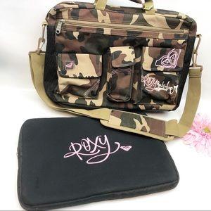 Roxy Quicksilver Camo Messenger Laptop Bag